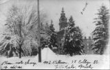 Snow scene, Central Campus, Hillsdale College