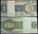 Brazil, 1 Cruzeiro Bank Note, 1970-1986