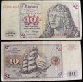 Germany, West Germany, 10 Deutsche Mark Bank Note, 1980