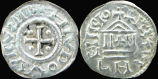 Carolingian Venice, Louis the Pious, AR Denier, 814 - 840 AD