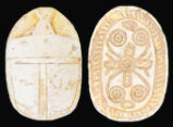 Egypt, Second Intermediate Period, Buff Steatite Scarab, c. 1750-1550 BC