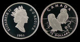 Canada, Snowy Owl Proof Platinum Coin Wildlife Series, 75 Dollars, 1991 AD