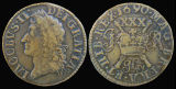 Great Britain, Ireland, Brass ½ Crown, 1690 AD